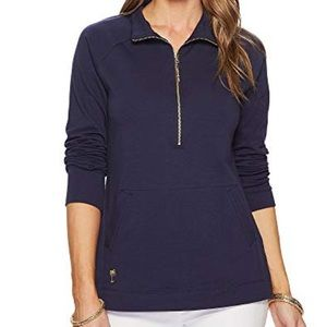 Lilly Pulitzer Solid Navy Skipper Popover XL